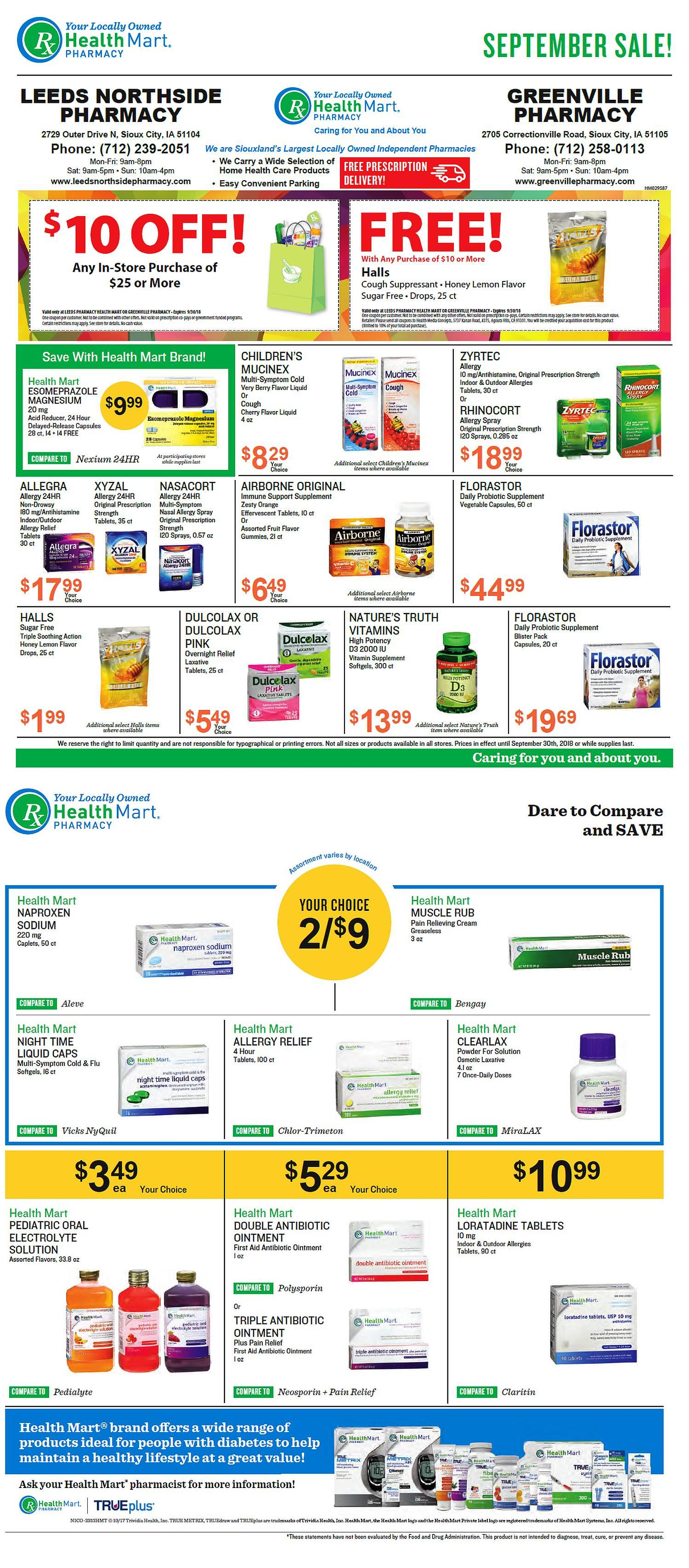 Greenville Pharmacy & McKesson Special Items For August Savings